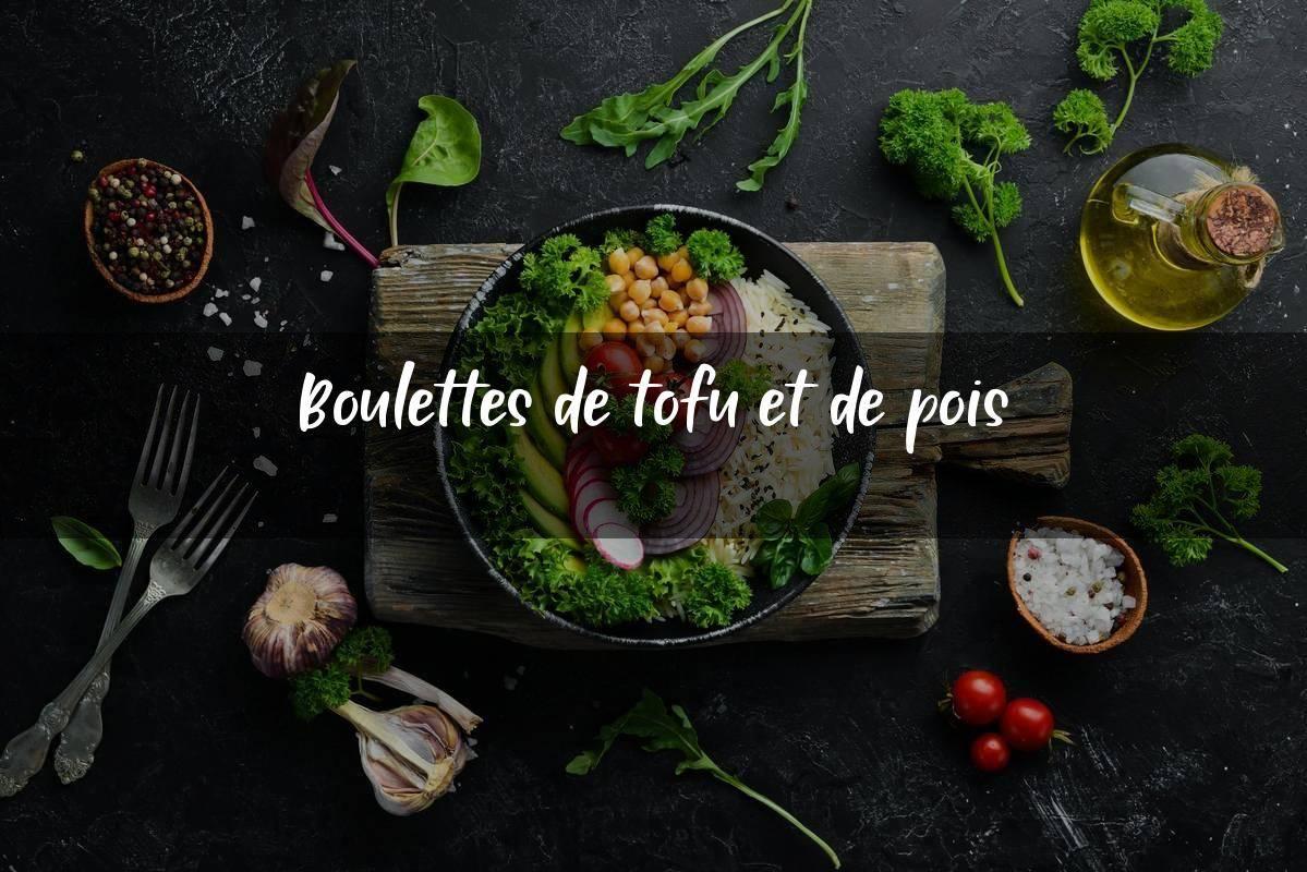 image Boulettes de tofu et de pois